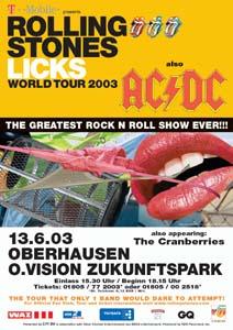 Konzert Bericht The Rolling Stones Acdc The Cranberries
